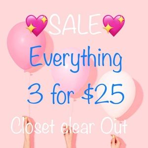Everything 3 items for $25